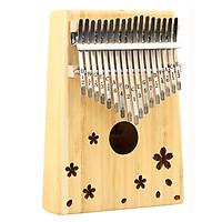 Đàn Kalimba Yael cao cấp 17 phím, Thumb Piano 17 keys - Gỗ tròn hoa + kèm khóa học miễn phí