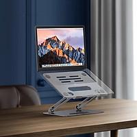 Giá đỡ laptop stand nhôm chỉnh độ cao chống mỏi gai váy cho laptop và máy tính bảng P43 Vu Studio - Hàng chính hãng