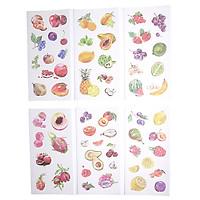 Sticker Dán Trang Trí ( Bộ 6 Tấm ) - Fruit