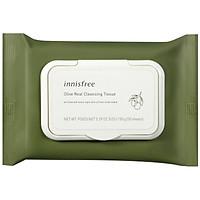 Khăn Ướt Tẩy Trang Hương Ô Liu Innisfree Olive Real Cleansing Tissue (30 Tờ) - 131171426