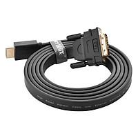 Cáp Chuyển Đổi Ugreen HDMI Sang DVI Sợi Dẹt 30141 12m - Hàng Chính Hãng