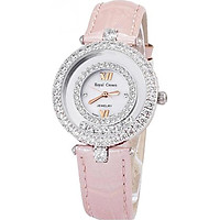 Đồng hồ nữ chính hãng Royal Crown 3628 dây da hồng