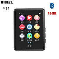 RUIZU M17 Mini Bluetooth MP3 Player Bluetooth 5.0 16GB 2.4 Inch Full Screen Touch Portable Music Player Built-in Speaker HIFI Lossless Music MP3 Player Support FM Radio E-book Recording Pedometer Small Pocket Video Player Support TF Card For Student English Listening