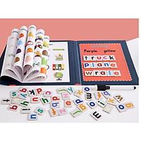 Đồ chơi học chữ, ghép vần- SÁCH GHÉP CHỮ, SỐ, HOC MÀU SĂC - GIÚP BÉ HỌC TỪ, ĐÁNH VẦN