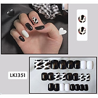 Bộ 24 móng tay giả nail thơi trang (như hình-LK1351)
