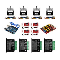 Aibecy 3D Printer Accessories UNO CNC Kit with Controller Shield Nema 23 Stepper Motors TB6600 Limited Switches - 6.35mm