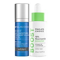 Bộ đôi  tinh chất tăng cường có chứa 10% niacinamide kết hợp AHA 5% , giúp cải thiện một cách đáng kể tình trạng da không đều màu, thu nhỏ lỗ chân lông của Paula's Choice