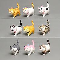 Mèo mô hình trang trí tiểu cảnh, bàn học, bàn làm việc siêu cute (bộ 9 con) - Mẫu 2
