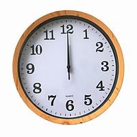 Đồng hồ treo tường kim giật cao cấp Quartz Viền Gỗ