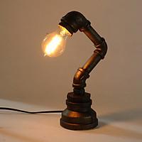 Large 29cm E27 Vintage Industrial Retro Iron Pipe Desk Table Lamp Light 110-240V