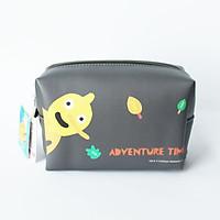 Túi đựng mỹ phẩm đồ trang điểm mỹ phẩm hình chữ nhật MINISO PINOCCHIO ADVENTURE TIME COSMETIC BAG màu nâu thiết kế Nhật Bản, hàng chính hãng – MNS050