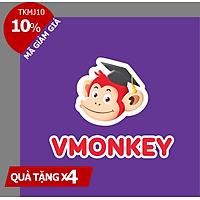 Evoucher - VMonkey (Trọn đời, 1 năm) Phần mềm Học tiếng Việt theo Chương trình GDPT Mới cho trẻ Mầm non & Tiểu học