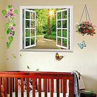 Decal dán tường cửa sổ xanh - HP22