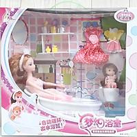Đồ chơi phòng tắm búp bê mô hình cho bé...