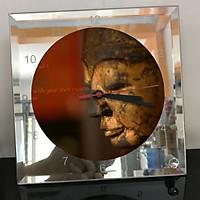 Đồng hồ thủy tinh vuông 20x20 in hình Buddhism - đạo phật (37) . Đồng hồ thủy tinh để bàn trang trí đẹp chủ đề tôn giáo