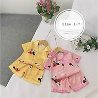 Đồ bộ bé gái, bộ pijama cho bé gái size 5-15kg chất lụa satin mềm mát