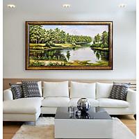 Tranh sơn dầu phong cảnh 80x160 không khung