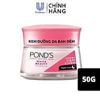 Kem Dưỡng Da Trắng Hồng Rạng Rỡ Pond's White Beauty Ban Đêm (50g)