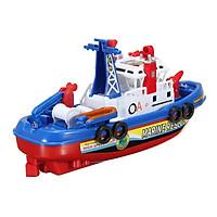Bộ mô hình đồ chơi tàu thủy tàu cứu hộ chạy dưới nước và phun nước