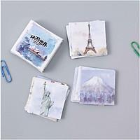 Hộp 45 Miếng Dán Sticker Trang Trí Phong Cảnh Kiến Trúc