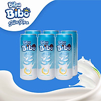 [ HT - sữa gạo từ gạo ST25]  Bibabibo lốc (06) lon 330ml tốt cho da, giảm cân, tim mạch