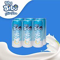 [ HT - sữa gạo từ gạo ST 25] Bibabibo combo 02 (lốc) 330ml (12 lon), tốt cho da, giảm cân, tim mạch