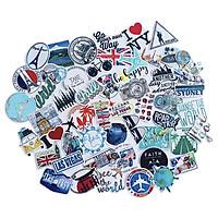 Bộ 50 Sticker Travel Du Lịch Hình Dán Trang Trí Va Li Chống Nước Decal Chất Lượng Cao Xe Đạp Xe Máy Xe Điện Motor Laptop Nón Bảo Hiểm Máy Tính Học Sinh Tủ Quần Áo Nắp Lưng Điện Thoại