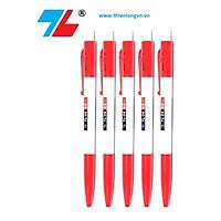 Combo 5 bút bi bấm Thiên Long TL08 màu đỏ
