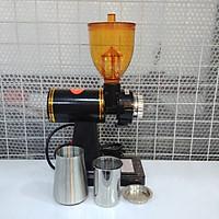 Máy xay cà phê mini 600N công suất 180W, 2 bồn đựng Inox, 8 cấp độ xay mịn