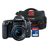 Máy Ảnh Canon 77D + Lens 18-55mm IS STM  - Hàng Chính Hãng - Tặng Kèm Thẻ Nhớ Và Túi Đựng Máy Ảnh
