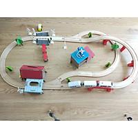 Đồ chơi gỗ - Đường ray tàu hỏa lắp ráp, đồ chơi cho bé trai năng động và kích thích sáng tạo - Ray 2
