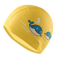 Mũ bơi cho bé, nón bơi trẻ em chất da PU chống thấm nước, co giãn tốt hình cá voi đủ màu sắc cho bé thoải mái bơi lội – NB007
