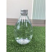 1 bình đựng nước thủy tinh hình giọt nước có nắp nhôm chắc chắn, chai nước kiểu dáng siêu độc lạ 300ml thiết kế nhỏ gọn dùng cắm hoa trang trí bàn làm việc, đựng hóa mỹ phẩm, đựng nước uống