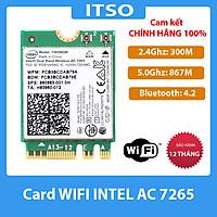 Card Wifi Intel AC7265 khe M2 có Bluetooth 7265NGW - Hàng nhập khẩu
