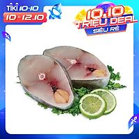 [Chỉ Giao HCM] - Cá Thu Tươi Cắt Khoanh, Hải Sản Biển Tự Nhiên Túi 300Gr - Foodmap