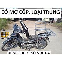 Baga giá chở hàng xe máy đa năng có mở cốp 60.60cm lắp cho xe Ga & xe Số