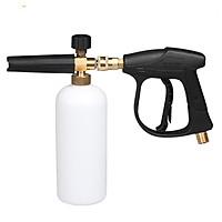 Súng áp lực cao và bình phun bọt tuyết (ren súng 14mm) ( tặng đầu xịt nước)
