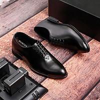 Giày Tây Nam Da Bò Cao Cấp, Kiểu Dáng Sang Trọng, Lịch Lãm, Gia Công Tại Xưởng Giá Ưu Đãi