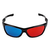 Black Frame Red Blue 3D Glasses For Dimensional Anaglyph Movie Game Red-Blue