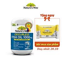 Viên Uống Dầu Cá Nature's Way Odourless Fish Oil Tăng Cường Sức Khoẻ Tự Nhiên Không Mùi 1000mg 200 Viên