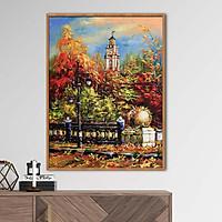 Tranh sơn dầu phong cảnh mùa thu Châu Âu - OP002