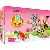 Thùng 48 Hộp Sữa dinh dưỡng Hương Dâu Vinamilk ADM (110ml)