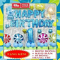 Trang trí sinh nhật cho bé gà xanh/hồng bóng size to(HAPPYBIRTHDAY)