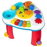 Đồ chơi Bàn nhạc tập đứng cho bé WINFUN 0812 kiêm đập bóng vui nhộn, thả hình khối luyện tư duy có đèn nhạc - tặng đồ chơi tắm 2 món