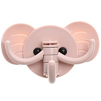 Cute Elephant Nail-free Seamless Strong Glue Door Hooks Kitchen Bathroom Wall Multi-purpose Hooks Home Decoration Accesories