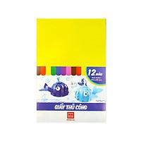 Giấy thủ công 12 màu (195x295mm) 3486 (20 tập)