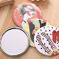 Gương tròn mini bỏ túi Gương mini dễ thương Hàn Quốc