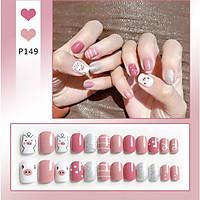 Bộ 24 móng tay giả nail thơi trang như hình (P149)