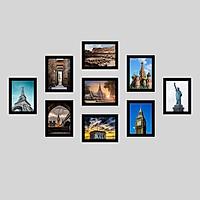 Bộ 9 Khung ảnh Composite Treo Tường KA906 m2 Miễn phí phụ kiện.