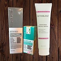 Combo Detox Blanc Thải độc Giảm mụn tận gốc Mặt Nạ Detox mask và Serum mụn Lộc Đề(mẫu mới) + Tặng kèm Sữa Rửa Mặt
